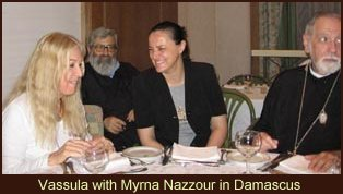 Vassula with Myrna Nazzour in Damascus in 2005